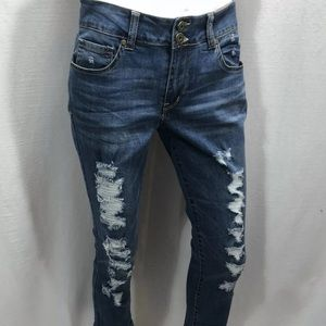 One 5 One 151 Jeans Cropped Skinny 31 distressed